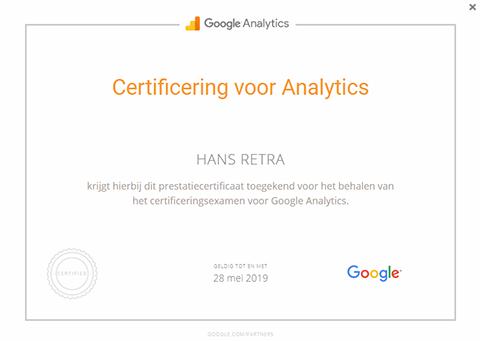 Google Analytics certificering
